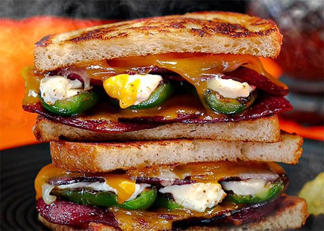 Seltzer's Bologna and Jalapeno Popper Sandwich